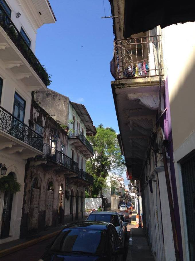 Casco Viejo view down Avenida A from Calle Primera.